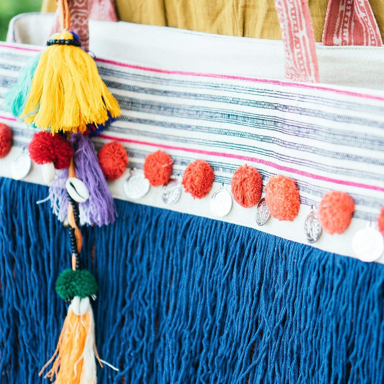 25 Hmong hill tribe pom poms handmade ethnic yarn pom poms LIGHT PINK approx 25 pcs. 1 20-25mm Standard size