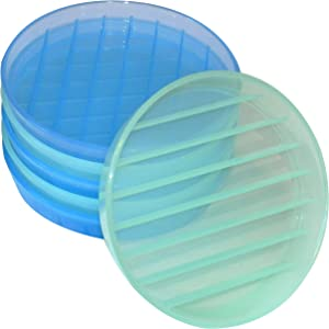 Dam Coasters, 6-Pack, 3 Blue/3 Light Blue