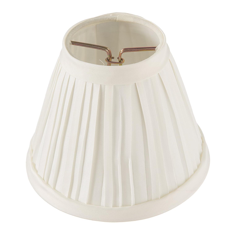 Darice Plisada Tela Cubierta lámpara, 2,5 Pulgadas por cm por 12,7 cm, Color Marfil