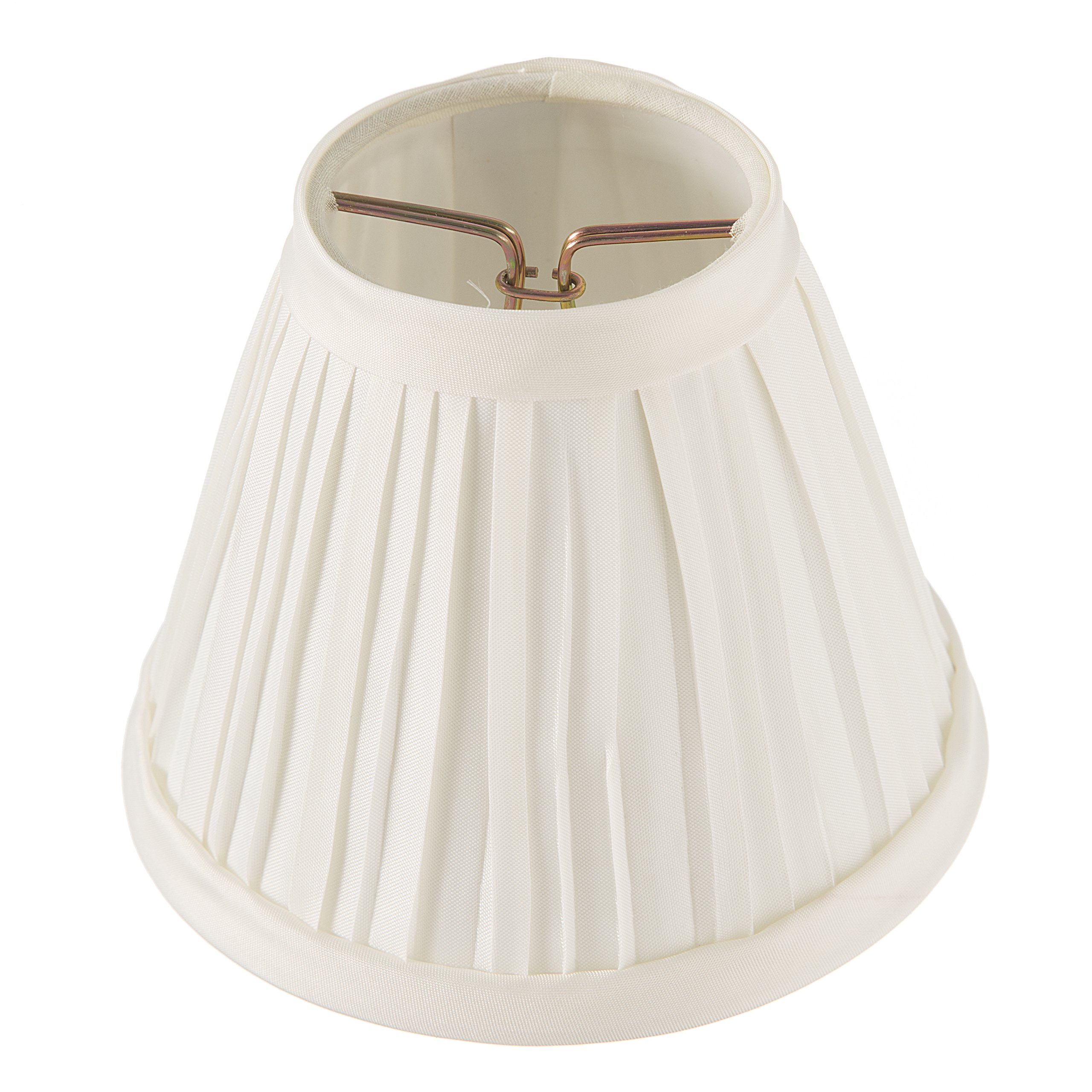 Darice Pleated Cloth Covered Lamp Shade, 2.5-Inch by 4-Inch by 5-Inch, Ivory