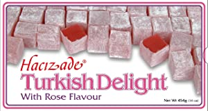 Hacizade Turkish Delight Candy with Rose Flavor, 16 Ounce