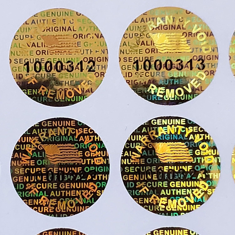 Padlock Security Hologram Sticker Warranty Seal Labels Tamper Proof 20x20mm