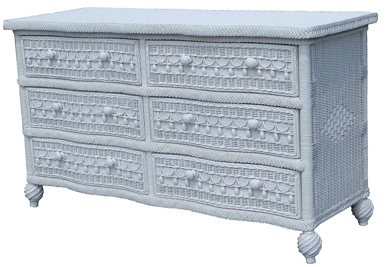 Amazon.com: Spice Islands Classic 6 Drawer Dresser, Null, White ...