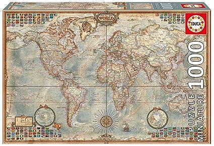 Amazon.com: Educa Political Map of The World Puzzle (1000 Piece ...