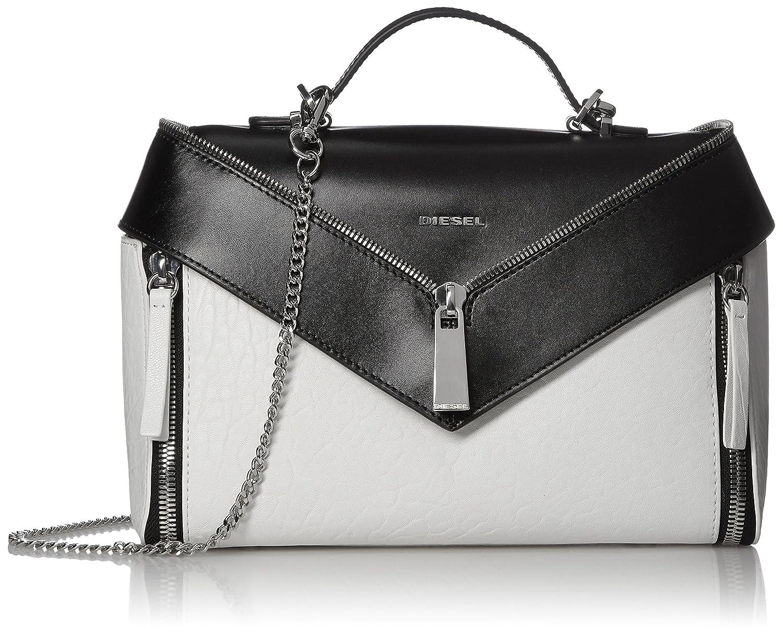 (ディーゼル) DIESEL レディース ハンドバッグ LE-ZIPPER LE-TRASY II - handbag X05172P1557 B0772K8DQS  ブラック UNI (Free)