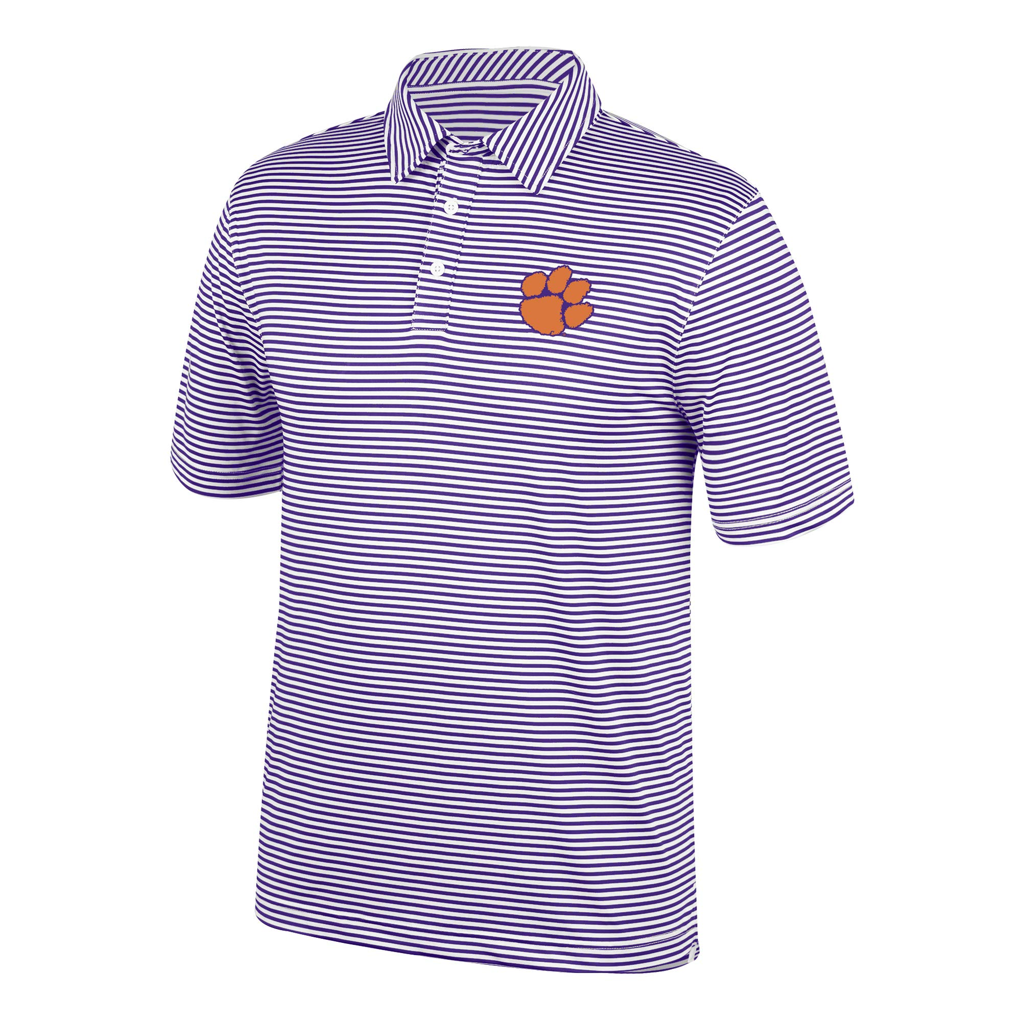 Top of the World NCAA Men's Clemson Tigers Team Color Stretch Bunker Polo Purple Small