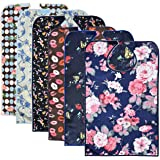 6 Pack Adult Bibs with Crumb Catcher - Waterproof and Reusable Clothing Protectors for Elderly Women