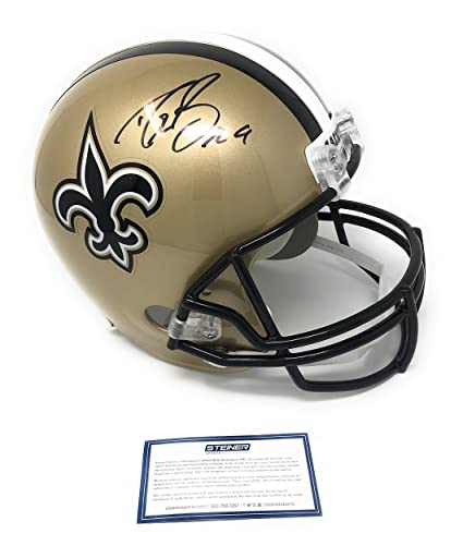 3a1482811 Drew Brees New Orleans Saints Signed Autograph Full Size Helmet Steiner  Sports Certified