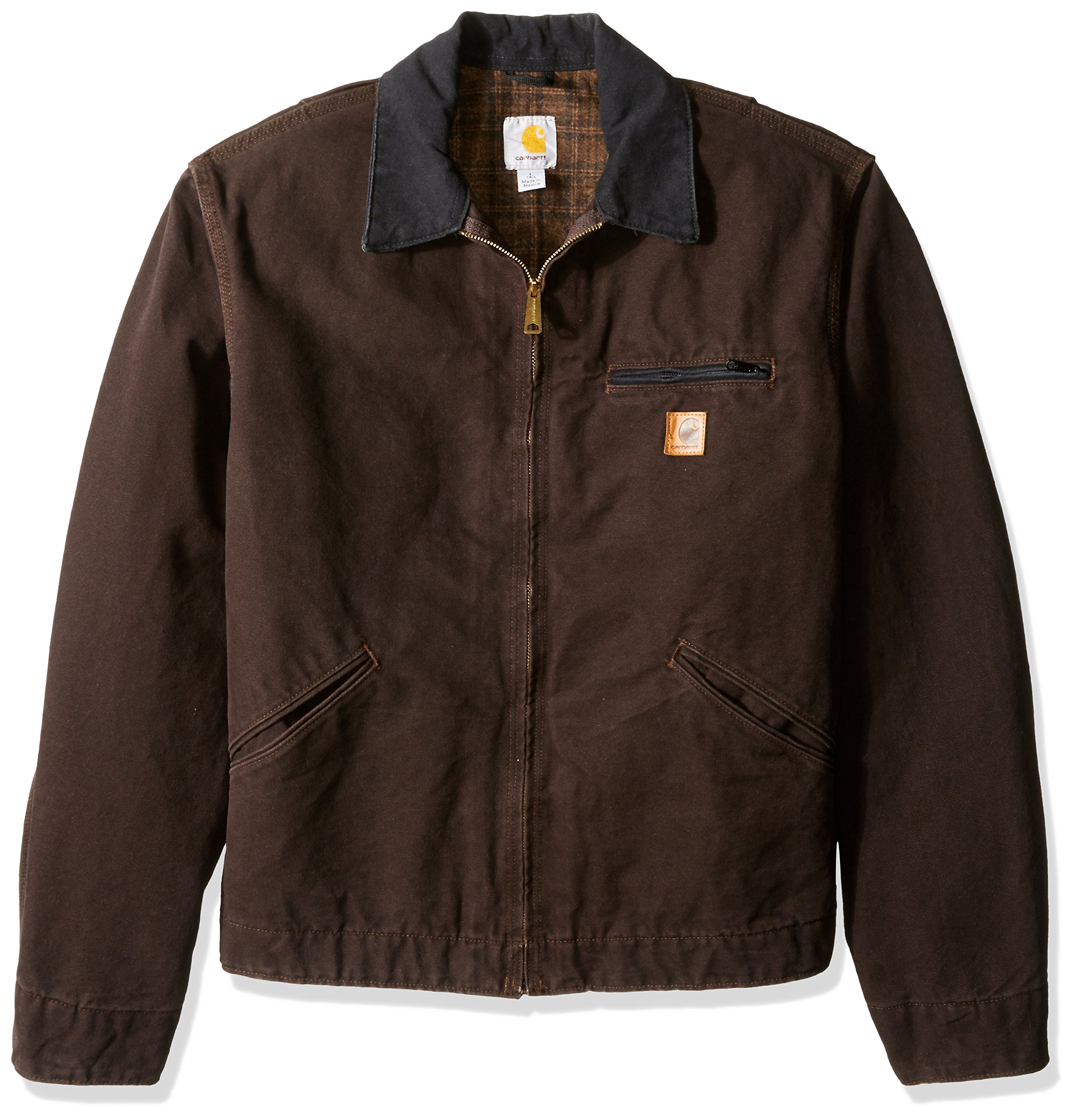 Carhartt Men's Big & Tall Blanket Lined Sandstone Detroit Jacket J97,Dark Brown,Large Tall by Carhartt