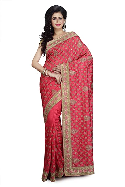 2ef188871d Grand Gobinda Baby Pink Raw Silk Saree for Women with Blouse Piece (GG24):  Amazon.in: Clothing & Accessories