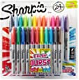 Sharpie Color Burst Permanent Markers, Fine Point, Assorted Colors, 24-Count