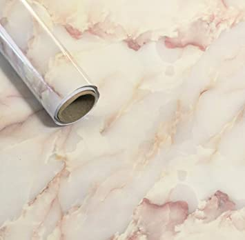 EZPaper Yellow Marble Contact Paper Self Adhesive For Countertops Cream  Golden Marble Wallpaper For Kitchen U0026