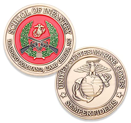 Amazoncom Usmc School Of Infantry Camp Geiger Challenge Coin
