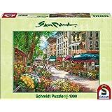 Schmidt Spiele 58561 - Sam Park, Pariser Blumenmarkt, 1000 Teile Puzzle