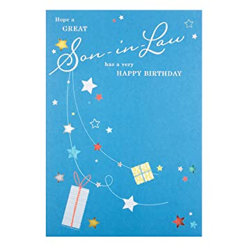 Image Unavailable Not Available For Color Hallmark Son In Law Birthday Card