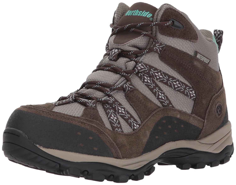 Northside Womens Freemont Leather Mid Waterproof Hiking Boot B01N3931Z9 9 B(M) US|Dark Brown/Sage