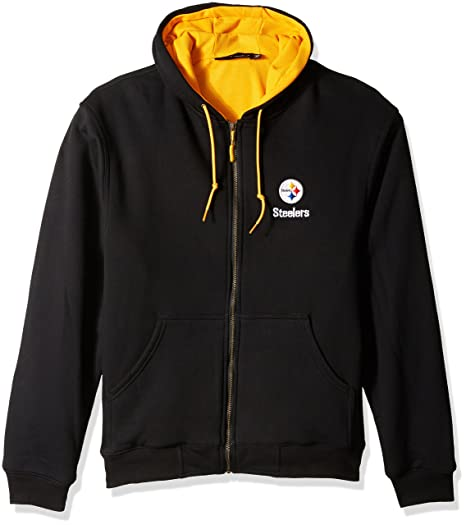 buy online 40000 8dfbe Dunbrooke/Reebok Pittsburgh Steelers Craftsman Zip Front Hooded Jacket