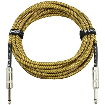 Amazon.com: GLS Audio 20 Foot Guitar Instrument Cable - 1/4 Inch ...