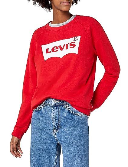 LEVI'S PEANUTS RELAXED GRAPHIC CREW Felpa grey