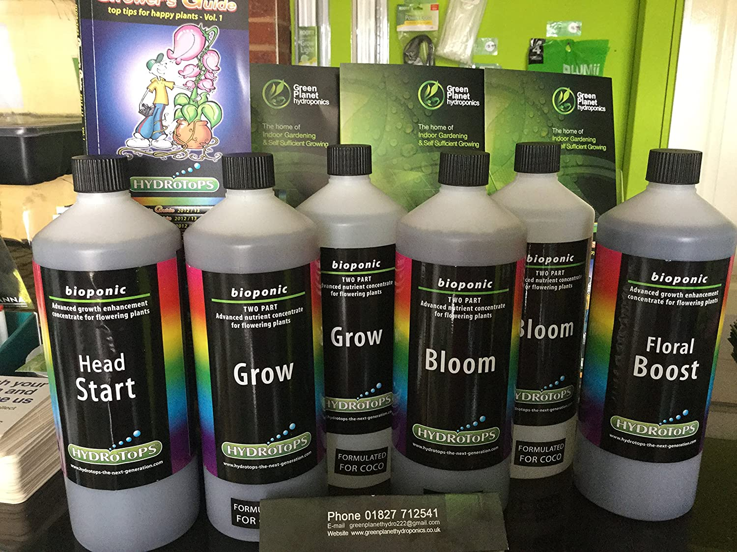 hydrotops Coco Set X 4 Produkte, Head Start 1L, Grow a & B 1L, Bloom A & B 1L, Floral Boost 1L RRP £80