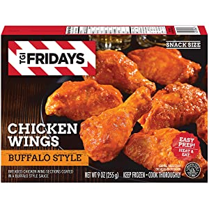 TGI Fridays Buffalo Style Frozen Chicken Wings (9 oz Box)