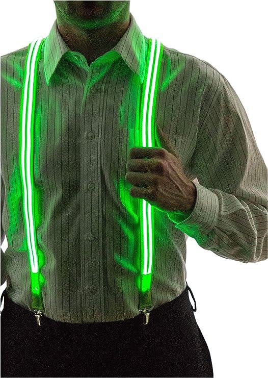 Glowing suspenders