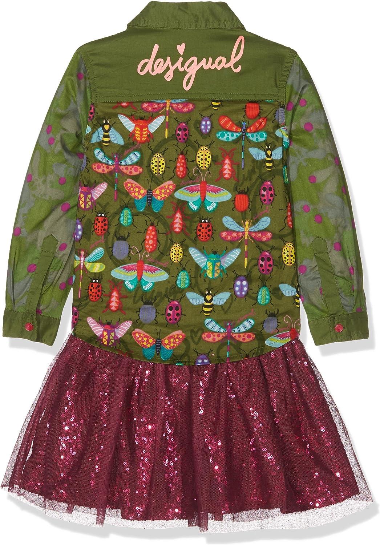 Desigual Vest/_Butterfly Vestito Bambina