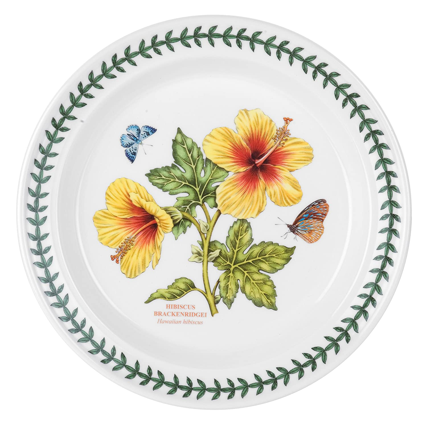 Delicieux Amazon.com | Portmeirion Exotic Botanic Garden Dinner Plate With Hibiscus  Motif, Set Of 6: Dinner Plates