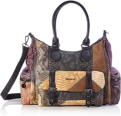 Oferta amazon: Desigual Accessories PU Shoulder Bag, Bolso bandolera. para Mujer, marrón, U