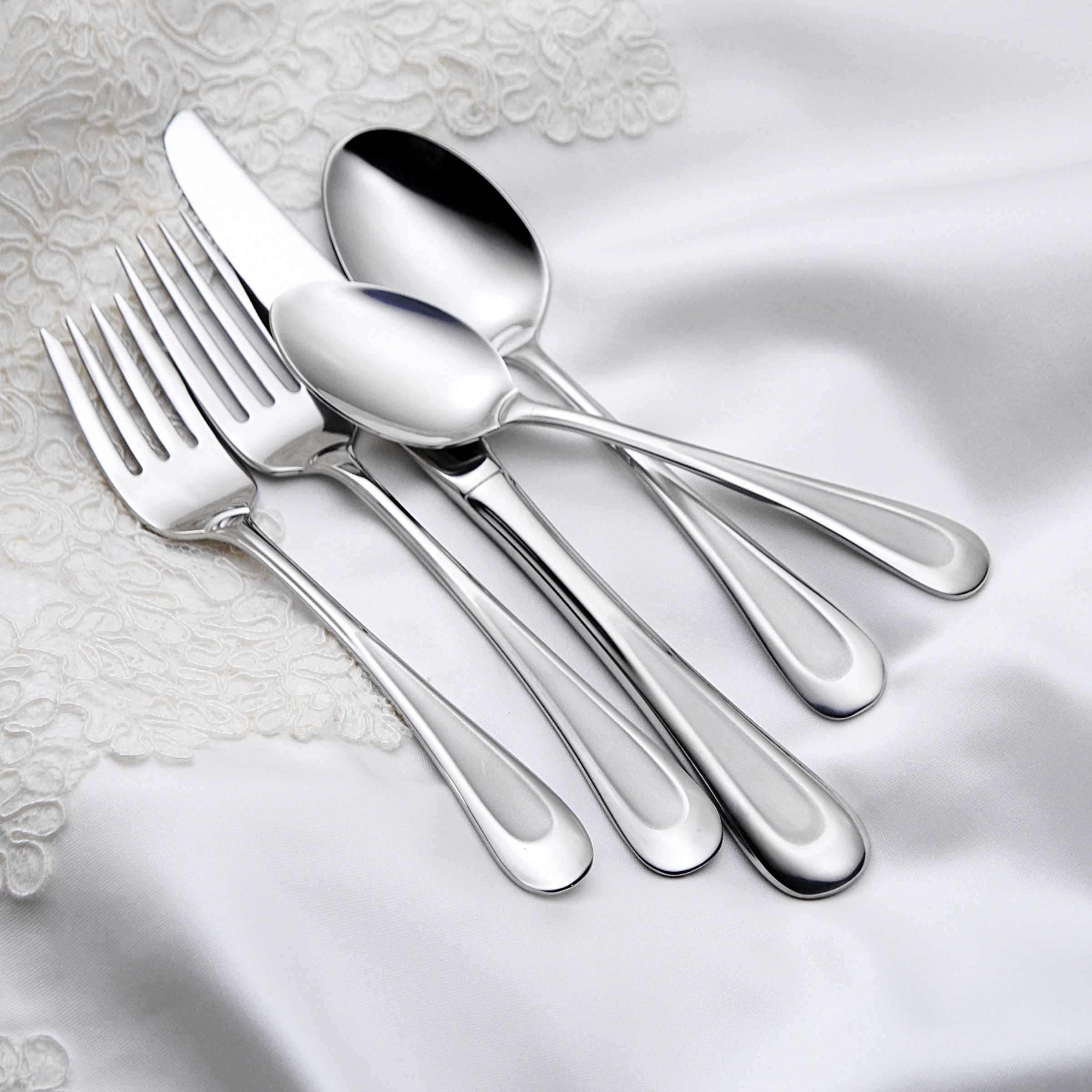 Oneida Satin Sand Dune Dinner Forks, Set of 4 by Oneida (Image #1)