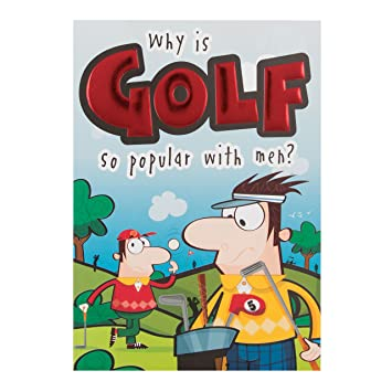 Hallmark Funny Birthday Card QuotGolfquot