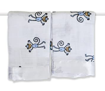 beb76e3190 Amazon.com   aden + anais 2 Pack Muslin Issie Security Blanket ...