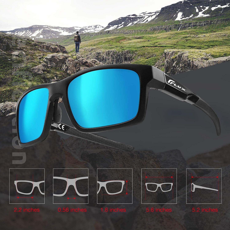 Flux New Verano Polarized Sunglasses for Men and Women UV400,Anti-Slip,Adjustable Nose Pad
