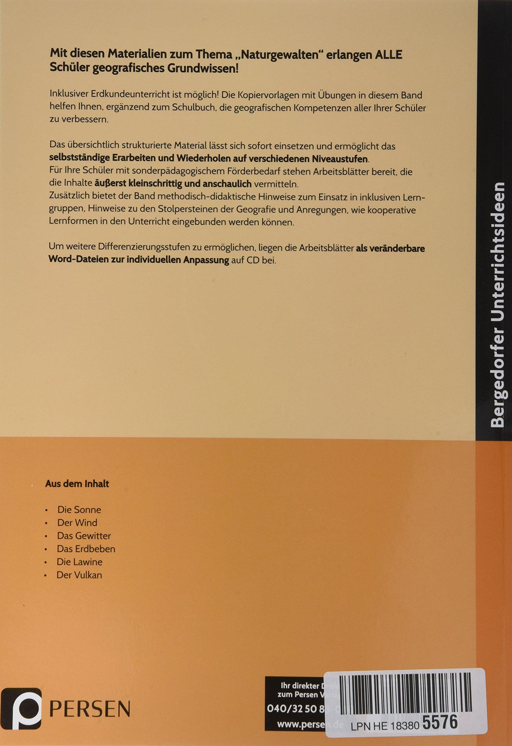 Naturgewalten - Inklusionsmaterial: 5. bis 7. Klasse Grundwissen ...