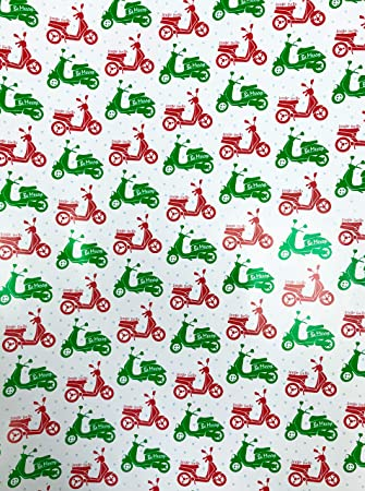 Amazon.com: Be Merry Jingle Bells - Papel de regalo para ...