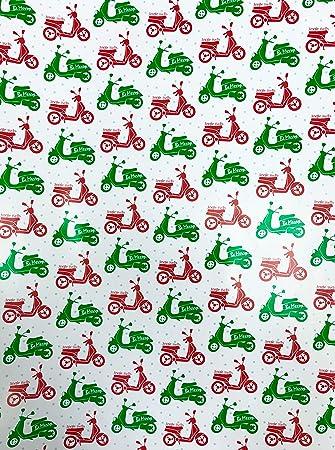 Amazon.com: Be Merry Jingle Bells - Papel de regalo para ...