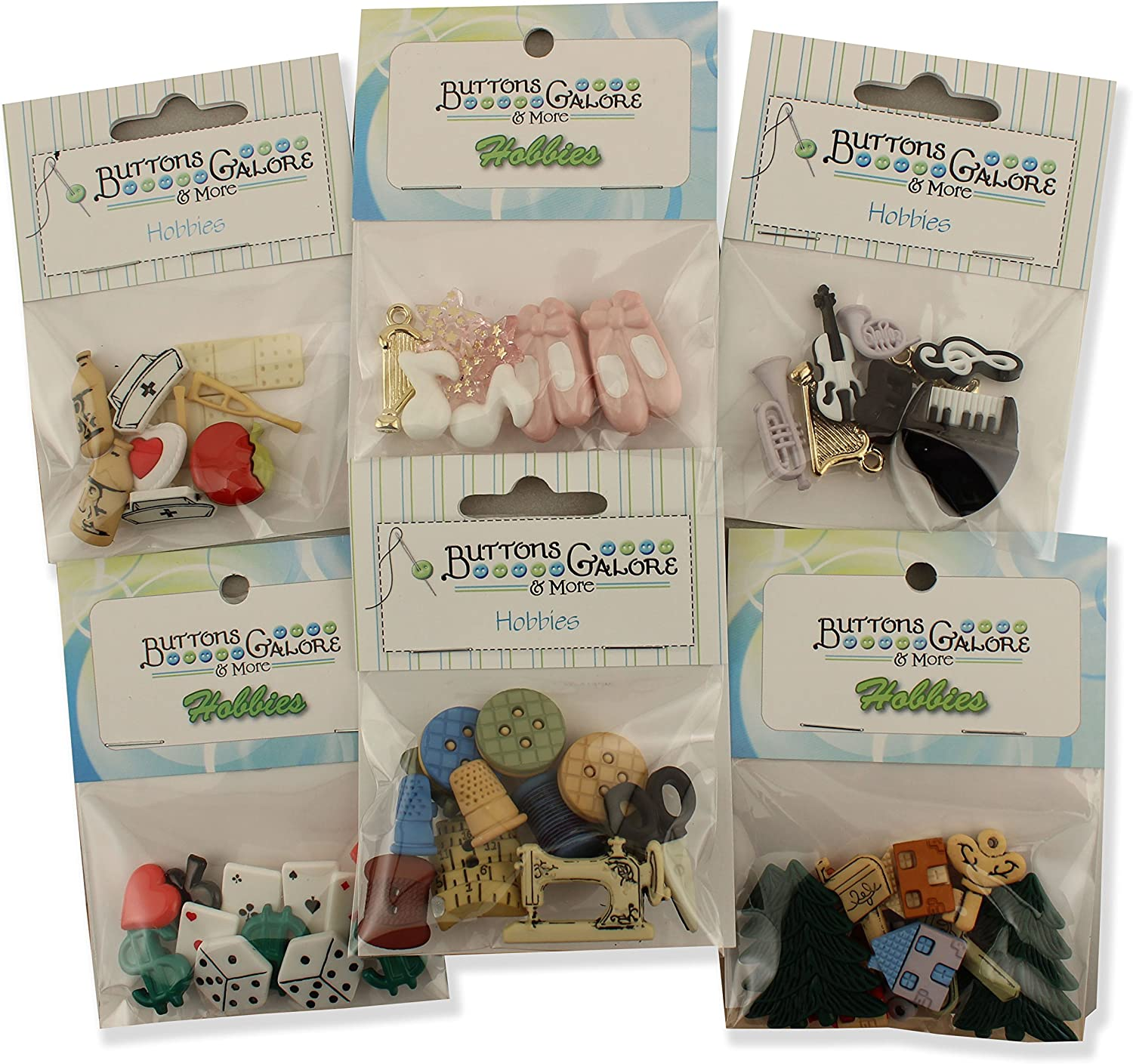 Buttons Galore Hobbies Button Theme Packs-Set of 6