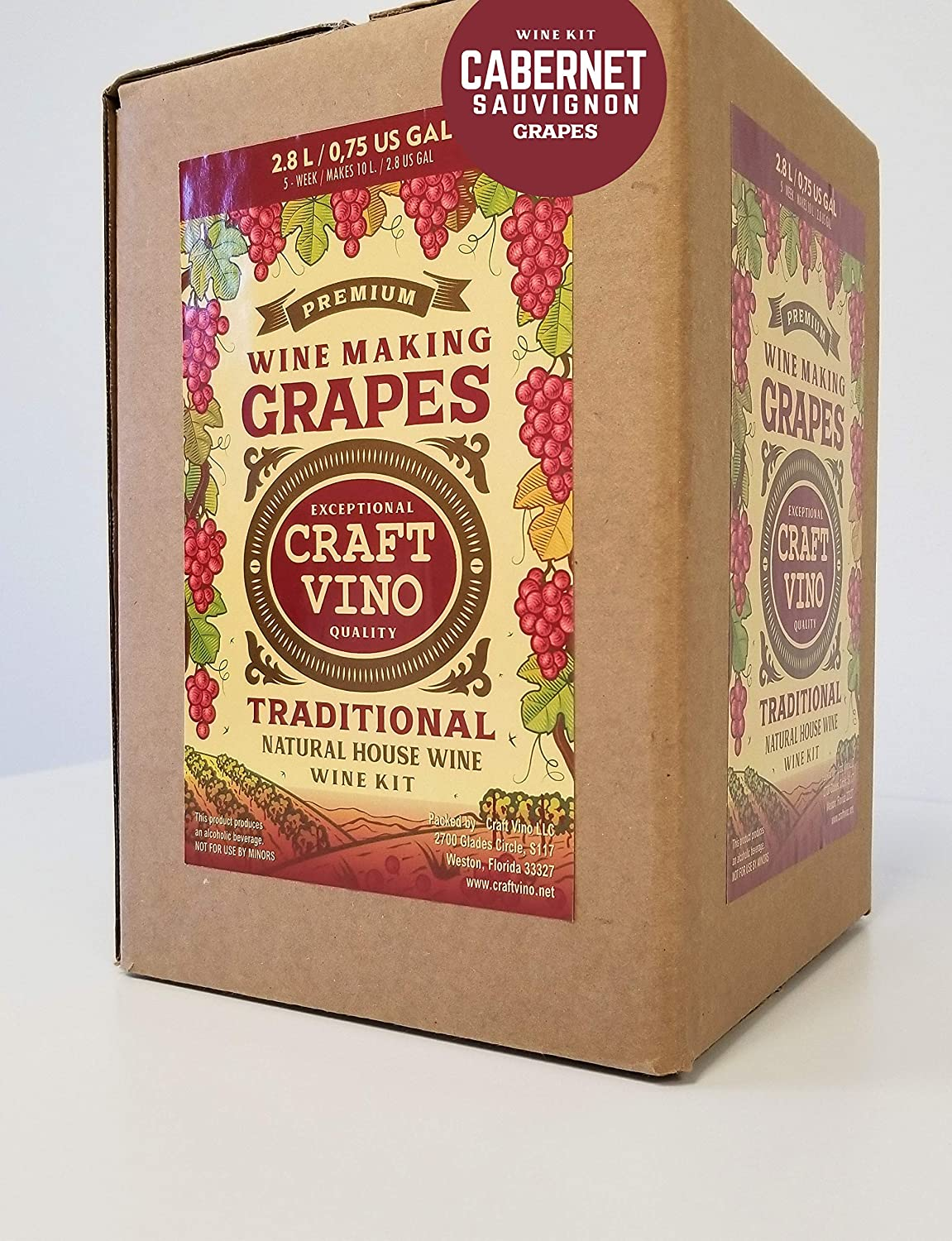 Amazon.com : CABERNET GRAPES Premium Wine Kit - Cabernet Sauvignon - Makes wine in 4-5 weeks : Grocery & Gourmet Food