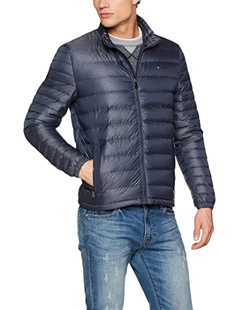 Tommy Hilfiger LW Down Bomber, Chaqueta Hombre, Azul (Sky Captain Heather) X