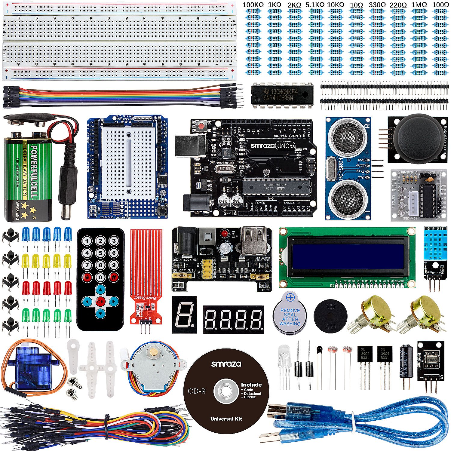 smraza ultimate uno project starter kit for arduino with stepper