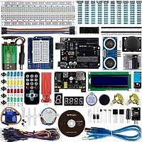 Smraza para Arduino Uno R3 Starter Kit + Guías Tutorial Detallada, Placa UNO R3, Relé de 5V, Modulo de Fuente de Alimentación, Servomotor, LCD1602 para Arduino Mega 2560 Nano Mega328