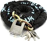 H&S 10mm x 1.2m HEAVY DUTY Motorcycle Motorbike Bike Bicycle Cycle Chain Lock PadLock (10mm Dia x 1200mm Length)