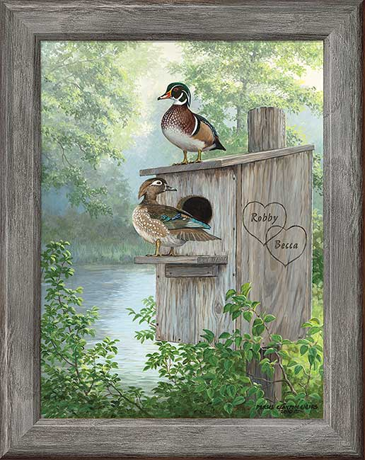 Personalized Art; Misty Hideaway-Wood Ducks by Persis Weirs | Wild Wings