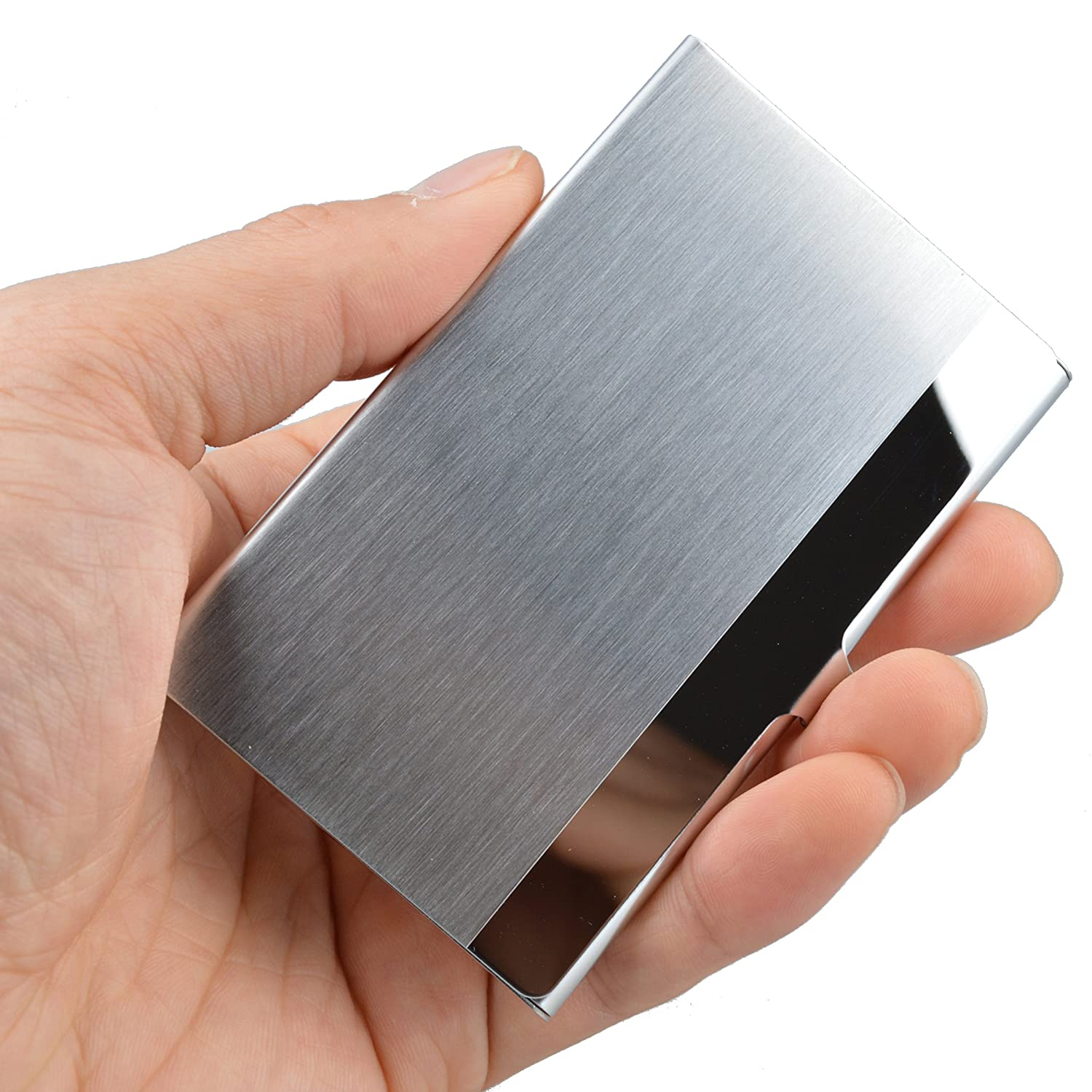 Business card holders amazon office school supplies maxgear professional business card holder business card case stainless steel card holder keep business cards in magicingreecefo Image collections