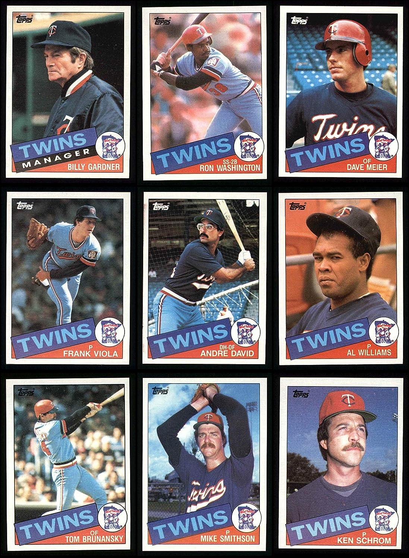 1985 Topps Minnesota Twins Team Set Minnesota Twins (Baseball Set) Dean's Cards 8 - NM/MT Twins 91EQvPs7aJL