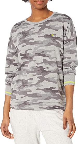 PJ Salvage Womens Camo in Color S//S T-Shirt Pajama Top