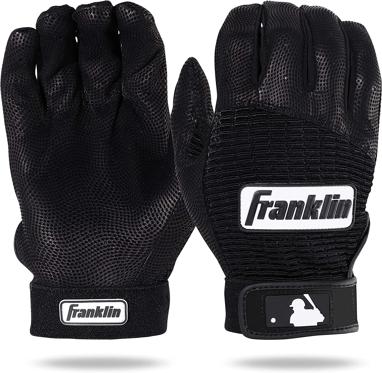 Navy Franklin POWERSTRAP Series Baseball Gloves Blue//orange//gold Large