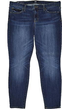 Amazon Com Gap 417011 Pantalones Vaqueros Para Mujer Talla Mediana Color Indigo Clothing