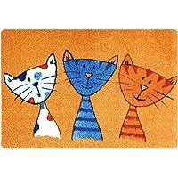 deco-mat Paillasson Design pour Porte d'entrée intérieur et extérieur Paillasson antidérapants lavables Cat
