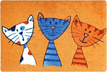 Amazon De Deco Mat Fussmatte Katze Fussmatte Innen Rutschfest